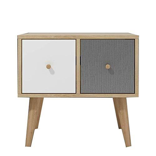 TXXM® Herstellung Nachttisch Nordic Einfacher moderner Speicher-Schließfach Economy Schlafzimmer Kleine Mini Simple Storage Kleines Kabinett Praktische Möbel
