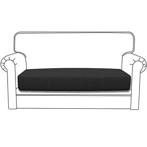 Silingsan Sofa Überwürfe Sofabezug Jacquard Elastische Spandex Couchbezug für Sofa rutschfest Möbelschutz(2 Sitzer, Dunkelgrau)