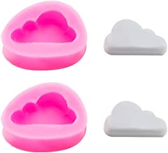 2Pcs TINY SIZE Cloud Silicone Fondant Mold Cloud Chocolate Candy Mold Cake Decorating Tool Epoxy Resin Clay Mold Embed Soa...