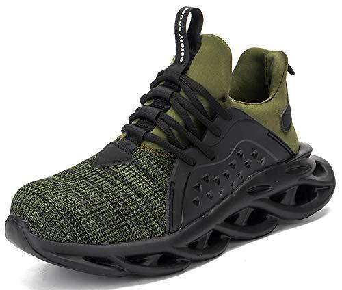SUADEX 作業靴 安全 靴 作業 おしゃれ あんぜん靴 みどり 工事現場 靴 スニ一カ一 軽量 通気性 鋼先芯 耐摩耗 防刺 耐滑ソール アウトドア スニーカー ワーク シューズ セーフティーシューズ