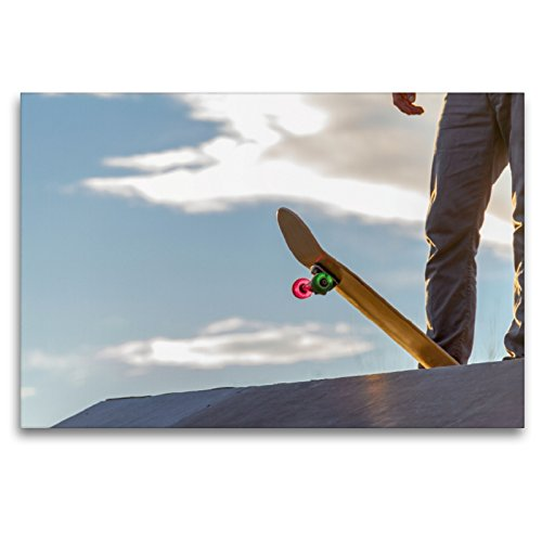 CALVENDO Premium Textil-Leinwand 120 x 80 cm Quer-Format It's Skateboarding, Leinwanddruck von Wenki