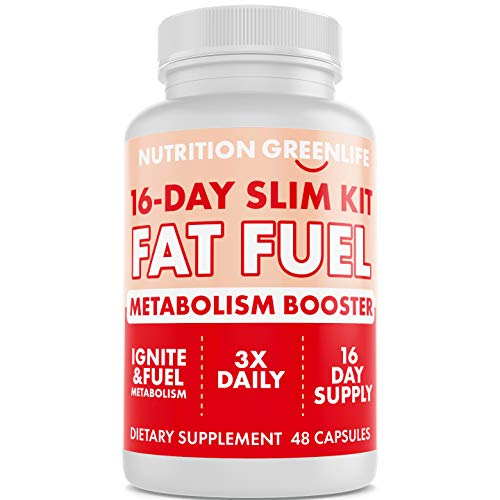 16-Day Weight Loss Fat Fuel - Premium Thermogenic Weight Loss Fat Burner - Metabolism Booster - Chromium, Caffeine, Garcinia, Green Tea, L-Carnitine - Keto Friendly, Gluten Free