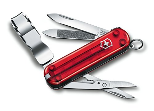 Victorinox Swiss Army Nail Clip 580 Swiss Army Knife, Ruby