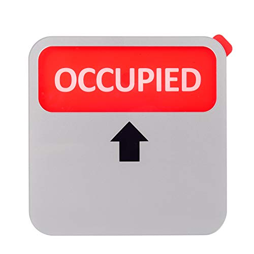 Kichwit Vacant Occupied Sign, Privacy Sign for Offices or Homes (Silver, 3.5 Inch)
