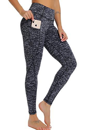 FITTOO Mallas Leggings Mujer Pantalones Deportivos Yoga Alta Cintura Elásticos Transpirables Gris XL