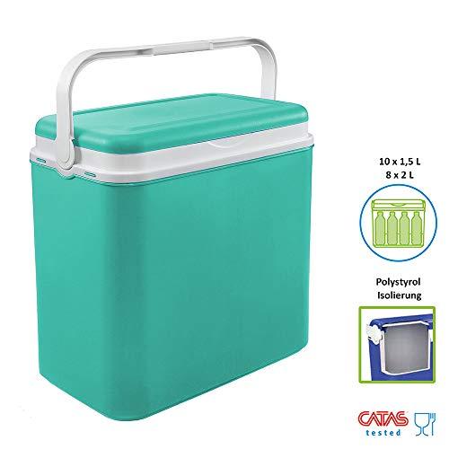 Kühlbox | Passive Kühlbox | Kühltaschen aus Kunststoff mit polystyrol thermische Isolierung (36 L, Türkis)