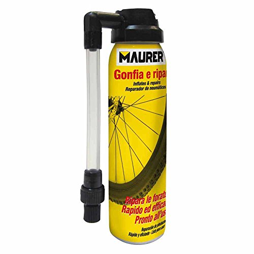 Maurer 12060364–Spray riparatore gonfiatore, per ruota di bicicletta (100ml)
