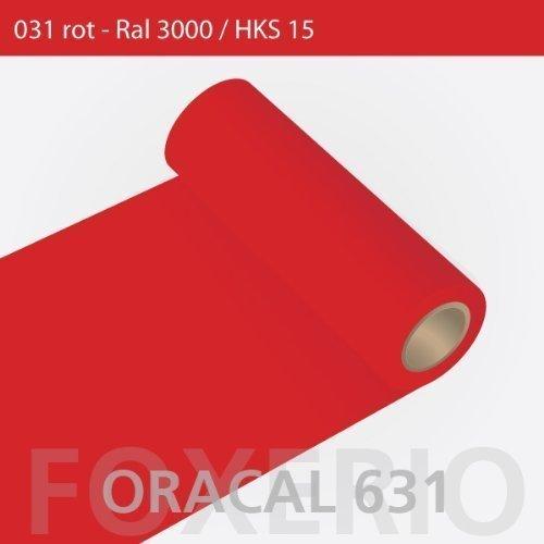 Orafol - Oracal 631 - 31cm Rolle - 5m (Laufmeter) - Rot / matt, A26oracal - 631 - 5m - 31cm - 07 - kl - Autofolie / Möbelfolie / Küchenfolie