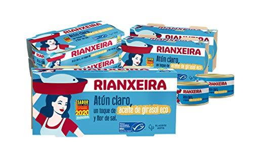 RIANXEIRA Pack de 16 latas x 65g. de Atún Claro Ligero con...