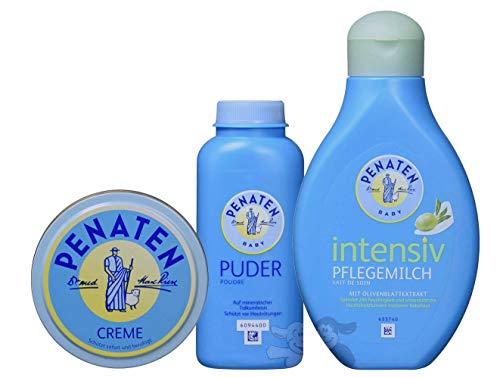 Penaten Pflegeset, bestehend aus: Puder 100ml, Creme 150ml, Intensiv-Pflegemilch 400ml