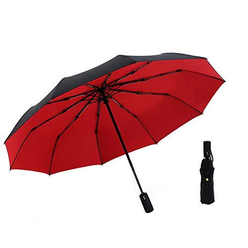 Ywong Kompakter faltbarer Regenschirm, winddicht, Reise-Regenschirm, automatisches Öffnen und Schließen, doppelter Baldachin, Regenschirm für Damen und Herren