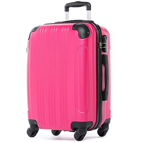 FERGÉ Handbagage Koffer QUÉBEC premium harde spinner premium bagage-koffer roze