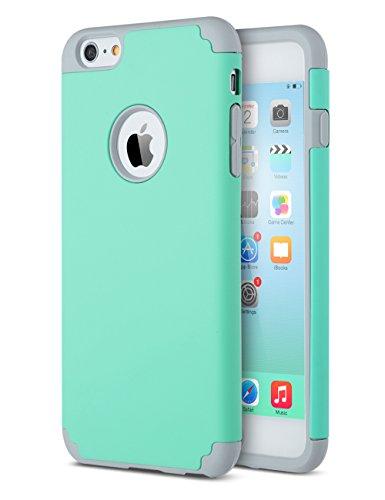 ULAK Cover iPhone 6S, Custodia iPhone 6 Anti-Graffio e Antiurto 2in1 PC + Silicone Caso della Copertura Protettiva Cover per Apple iPhone 6s/iPhone 6 4,7 Pollici (Grigio + Blu)