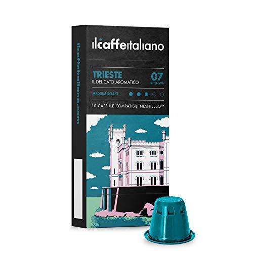 FRHOME - Nespresso 100 Càpsulas compatibles - Il Caffè Italiano - Mezcla Trieste Intensidad 7