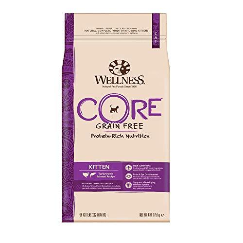Wellness CORE Kitten, Katzenfutter trocken für Kätzchen, getreidefrei, hoher Fleischanteil, Pute & Lachs, 1,75kg