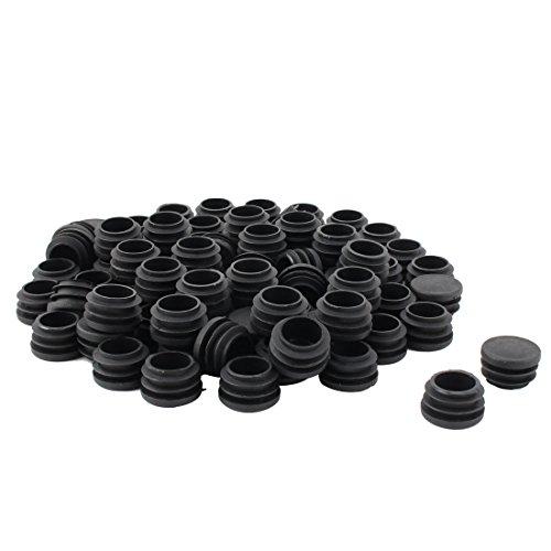 sourcingmap Président Table Base Plate Plastique Tube Rond Insert Tuyau Noir Couvercle 28 mm Diamètre 80pcs