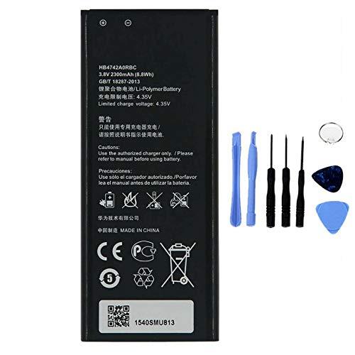Ellenne Batería Compatible con Huawei Ascend G730 Honor 3C 4G HB4742A0RBC Alta Capacidad 2300 mAh con Kit de desmontaje Incluido