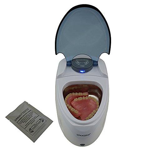 iSonic F3900 Ultrasonic Denture/Aligner/Retainer Cleaner for all dental and sleep apnea appliances, 110V 20W (tank no longer removable) , White , 0.4Pt/0.2L