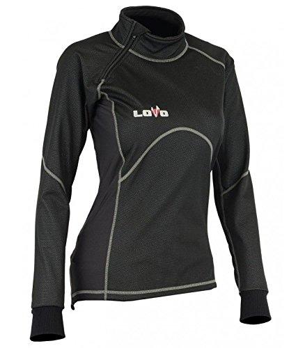 T-shirt thermique pour moto de femmes XXL noir