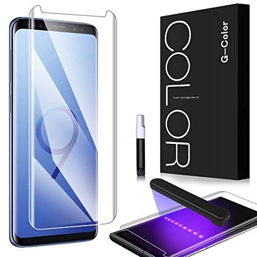 G-Color Galaxy S9 Plus Protector Pantalla, [Alta Viscosidad], Cristal Vidrio Templado de 3D [Cobertura [Anti-Choque][Alta Sensibilidad] Protector de Pantalla para Samsung Galaxy S9+/S9 Plus
