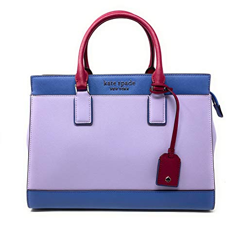 Kate Spade New York Cameron Saffiano Leather Large Satchel Convertible Crossbody Bag Purse Handbag (Frozenlilacm)