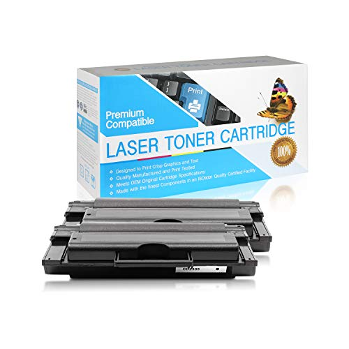 USA Advantage Compatible Toner Cartridge Replacement for Dell 2335dn / 330-2208/330-2209 / CR963 / HX756 / NX993 / NX994 (Black,2 Pack)