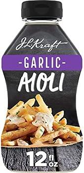 Kraft Mayo Garlic Aioli (12 oz Bottle)