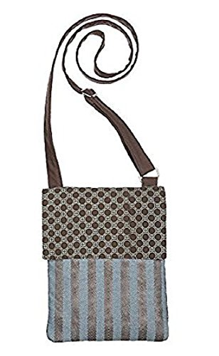 Style 101 Brown and Turquoise Cross Body Shoulder/Handbag - By Ganz