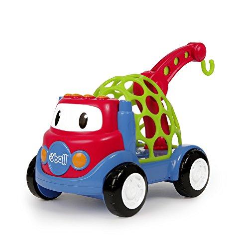 Oball Go Grippers Spielzeug Abschleppwagen aus flexiblem, robustem und leicht greifbarem Material, mit Hebebühne