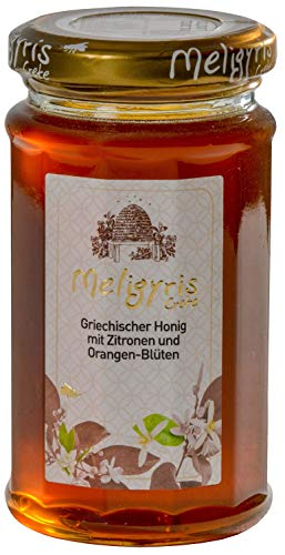 Griechischer Honig aus Zitronen und Orangenblüten von Meligyris | Reiner unvermischter kretischer Honig (300)