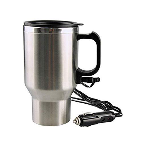 DUIQI Auto Elektrische Warmwassertasse Intelligente Edelstahl Saugnapf Elektromagnetische Heizung Große Kapazität Kann Gebranntes Wasser Tee Kaffee Brauen Instant Nudeln für Auto Familie