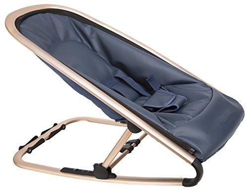 Kindsgut Transat bébé, balancelle avec plusieurs degrés d'inclinaison, bleu royal et armature dorée