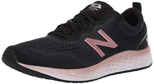 New Balance Women's Fresh Foam Arishi V3 Running Shoe, Black/Peach Soda Metallic, 10