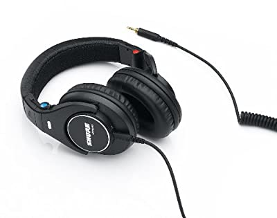 Shure SRH840-E Professional Closed-Back Studio and Hi-Fi Headphones, Preciesly Tailored Frequency Response for Rich Bass, Clear Mid-Range and Extended Highs, Detachable Cable, Collapsible, Black by Shure Incorporated