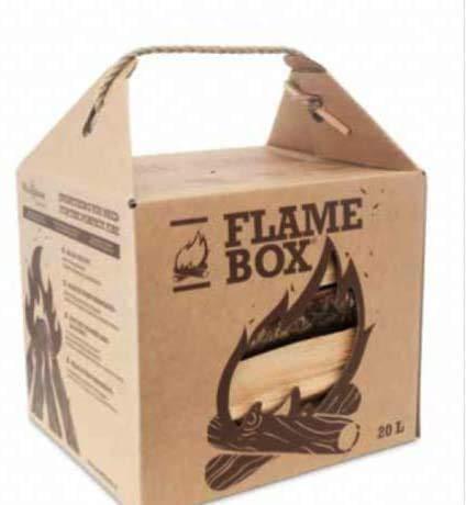 JSM Flamebox Grillholz BBQ Set ofenfertig, Scheitlänge ca. 25 cm - für Kamin, Ofen, Feuerschalen, Lagerfeuer - Kaminholz Feuerholz Grillholz (Weißbuche)