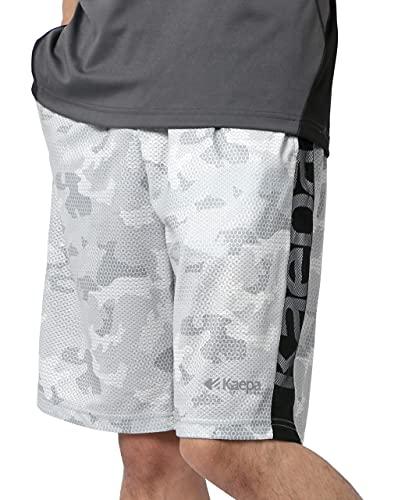 [ケイパ] ハーフパンツ メンズ ワッフル 吸汗速乾 UVカット 速乾 ドライ イージーパンツ ボトム 短パン ライトグレー M