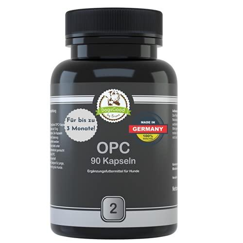 DogsGood OPC für Hunde - Als Gefäßschutz und Antioxidantie, Gelenke, glänzendes und dichtes Fell, Entzündungshemmend, pro Dose 90 Tabletten, für bis zu 3 Monate