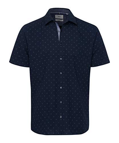 BRAX Herren Hemd Style Kris Navy dunkelblau - L