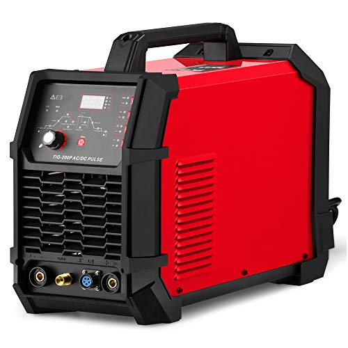 Aluminum Welder AC DC 200 Amp HF TIG/Stick Welder Digital with Pulse 200A Welding Machine Dual Voltage 220V/110V Foot Pedal control