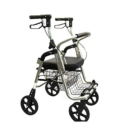 Ältere Einkaufswagen Trolley, Kaufen Sie Essen und Hilfe mit Sitz, Can Sit Falten Leichtgewicht Rollstuhl