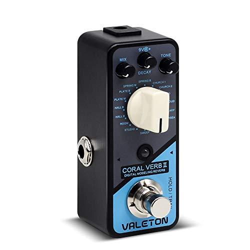 Valeton Coral Verb II Pedal de efectos de guitarra de reverberación digital
