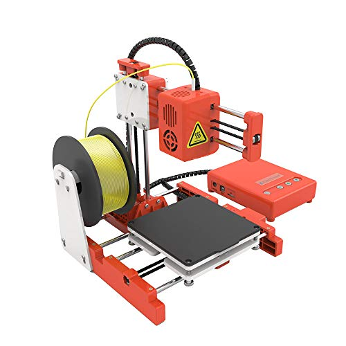 Aibecy Mini Desktop 3D Printer,100 * 100 * 100mm Print Size Children High Precision Mute Printing with TF Card PLA Sample Filament for Kids Beginners Creativity Education Gift, EasyThreed