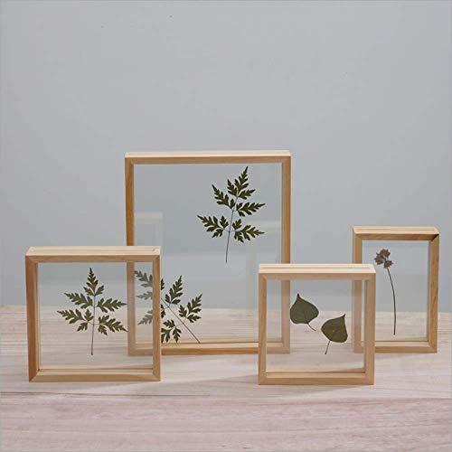 Nuevo conjunto de mesa cuadrada creativa marco de cuadro de flor seca pared de doble cara marco de foto de madera maciza marco de muestra de planta 7 pulgadas