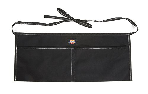 Dickies 2-Pocket Canvas Work Waist Apron, Suitable for Woodworkers, Artists, and other Craftspeople, Black
