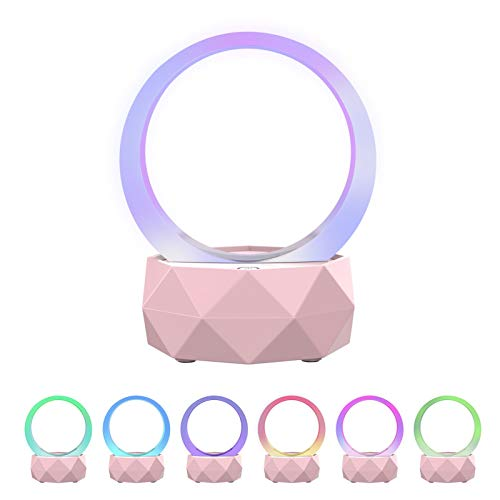 Rnehon LED Bluetooth Speaker Night Light Portable Wireless Bluetooth Speaker lamp Changable...