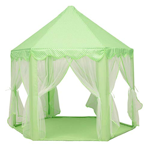 KUANDARMX sécurité Princess Castle Play Tent Large Kids Play House with Star Lights Girls Pink Play Tents Toy for Indoor & Outdoor Games Doux, B