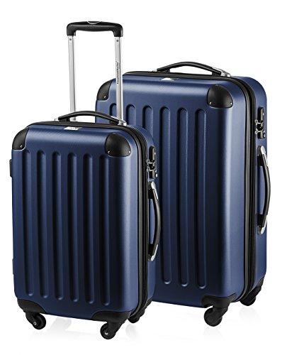 HAUPTSTADTKOFFER - Spree - 2er Koffer-Set Hartschale Matt, TSA, 55 / 65 cm,  mit Volumenerweiterung, Dunkelblau