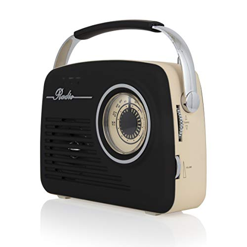 Akai A60014V Vintage Radio with AM and FM Radio Functions,...