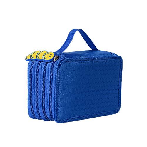 Elonglin Estojo para lápis de cor Crayola, canetas marco, 72 compartimentos azuis