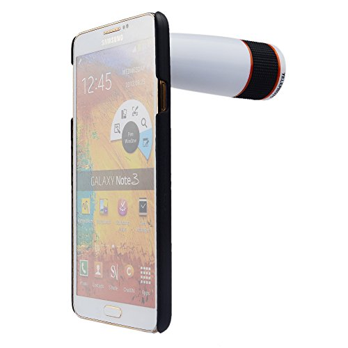 Apexel 12x Optical Zoom Telephoto Lens with Hard Case for Samsung Galaxy Note 3 White
